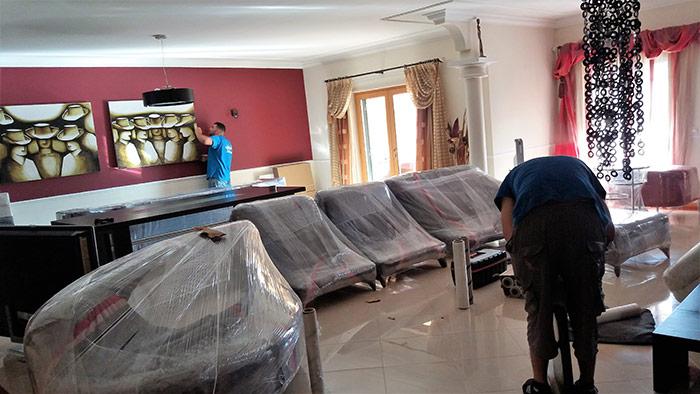 Confiança Mudanças - embalamento de móveis